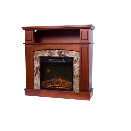 Buy Decor Flame Electric Fireplace with 36inch Mantle at Walmart.com