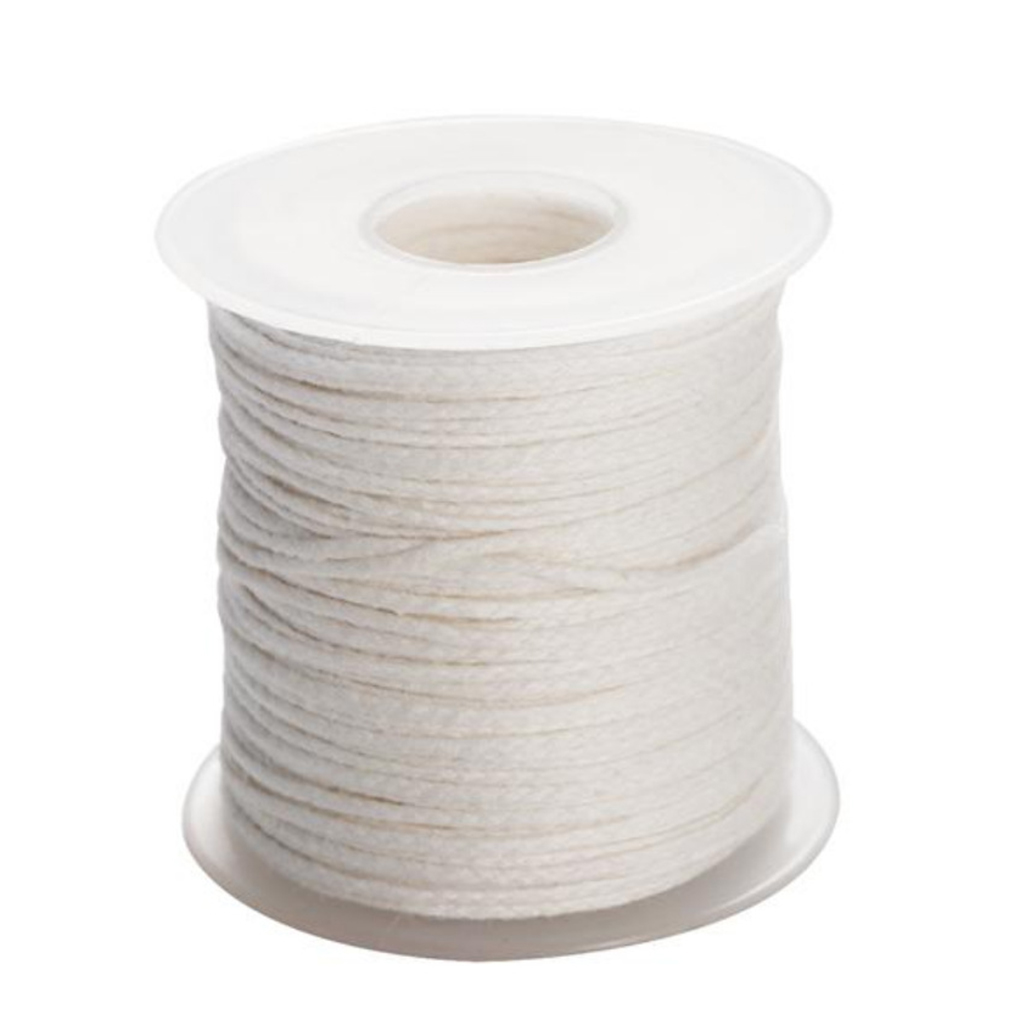 Natural Cotton Low Smoke 100 Pcs 6 inch Candle Wick with 100 Metal Tabs and 2 Candle Wick Centering Device for Soy Beeswax Candle Making Fit Cup Diameter 2-4.5cm