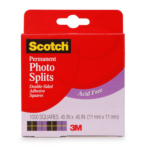 "Scotch 0.45"" x 0.45"" Adhesive Squares, 1000 Count"