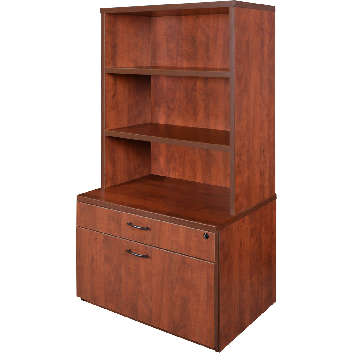 "Sandia 20"" Box File Lateral with 35"" Open Hutch with Lockdowel Assembly, Multiple Colors"