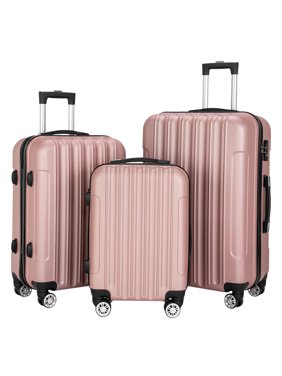 Ktaxon 3PCS Luggage Travel Set Bags ABS Trolley Hard Shell Suitcase W/TSA lock With 4 Wheels