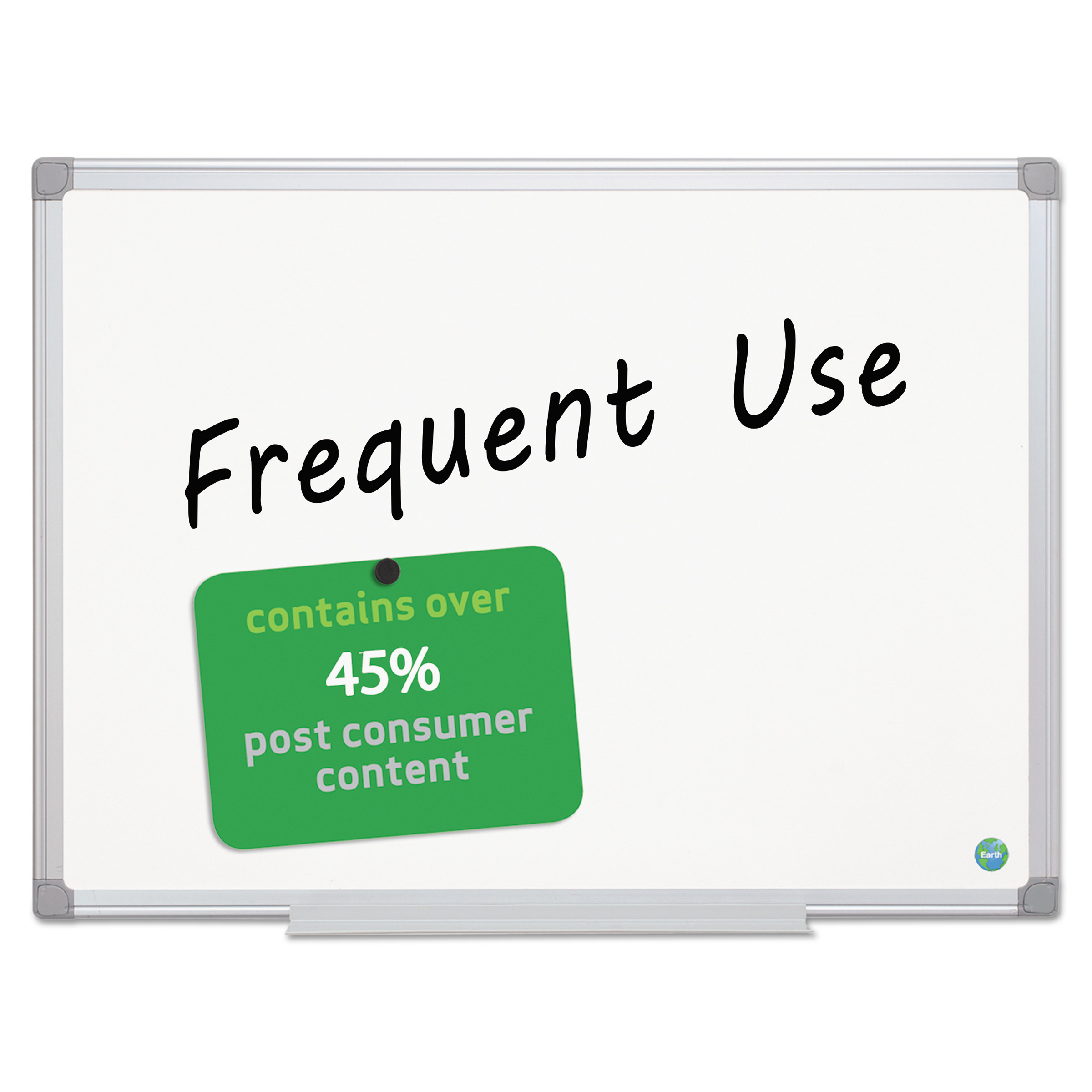 MasterVision Earth Gold Ultra Magnetic Dry Erase Boards, 36 x 48, White, Aluminum Frame