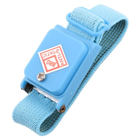 Cordless Anti Static Grounding Discharge Wristband Wrist Strap Cable Band Blue