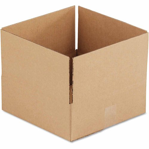 "General Supply Brown Corrugated, Fixed-Depth Boxes, 12"" x 12"" x 4"", 25 per Bundle"