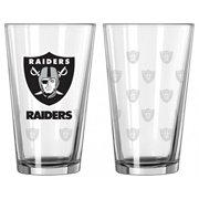 Oakland Raiders Satin Etch Pint Glass Set by Boelter Brands