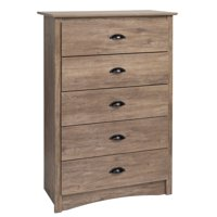 Atlin Designs 5 Drawer Chest in Drifted Gray