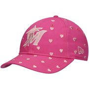 Miami Marlins New Era Youth Girls Lovely Fan Adjustable Hat - Pink - OSFA