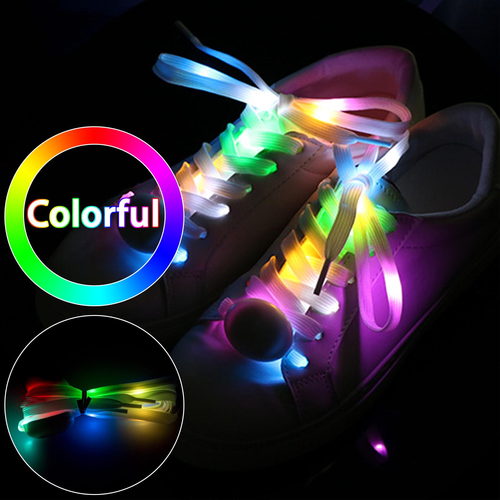 Flash Glow Nylon Strap Shoe Laces
