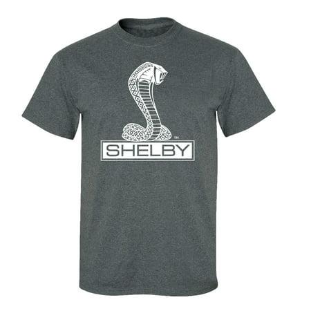 Ford Shelby Cobra Car T-Shirt Adult Men's Short Sleeve-Heather
