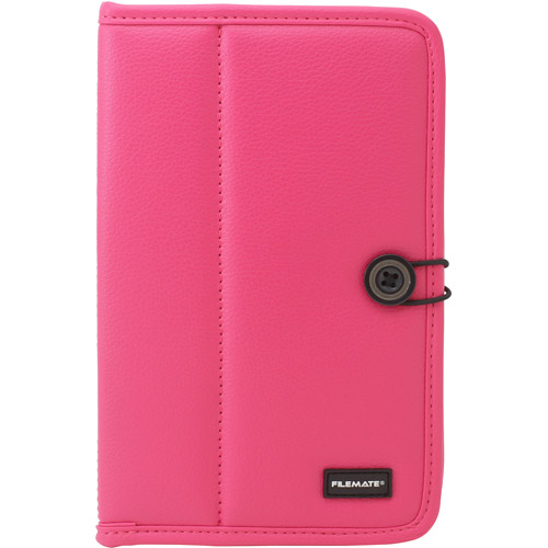 "FileMate ECO Faux Leather Case with Elastic and Button Closure for 7"" Tablets"