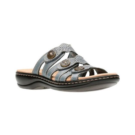 b3710c79f4a9 Clarks - Clarks 26134081  Women s Blue Grey Leisa Grace Leather Sandal (5.5  B(M) US Women) - Walmart.com
