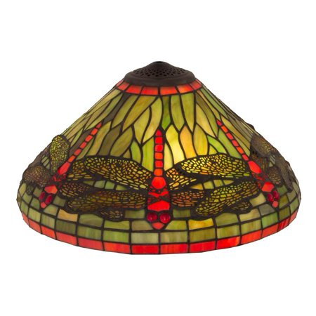 16 in. Dragonfly Glass Shade Hanginghead Dragonfly Shade