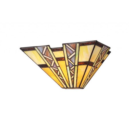 Mission Style Wall - Chloe Lighting Laurel Creek Briar Tiffany Style Mission Design 1-light Wall Sconce