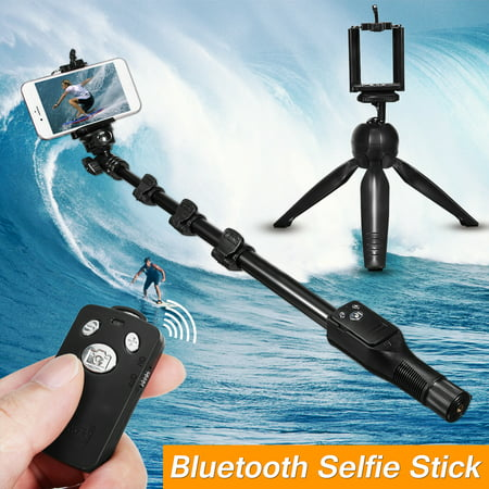 3-IN-1 Extendable Selfie Stick 16''-47'' + h Remote Control Shutter + Handheld Monopod Tripod Mount for iPhone X, 8 7 6S, for Samsung Galaxy Note 8 S9/S8/S7 - image 9 de 9