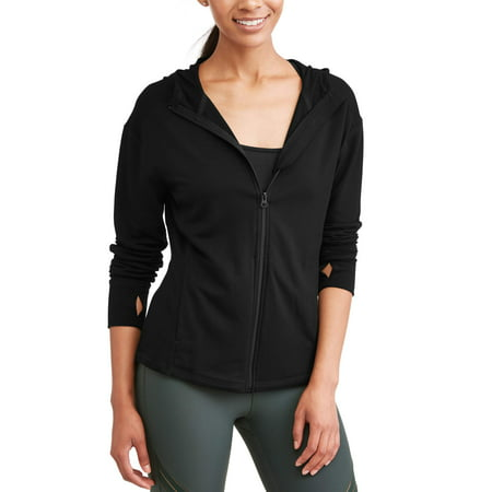 Anvil Short Sleeve Sport Shirt (Avia Women's Core Active Full Zip Hoodie with Thumbholes )