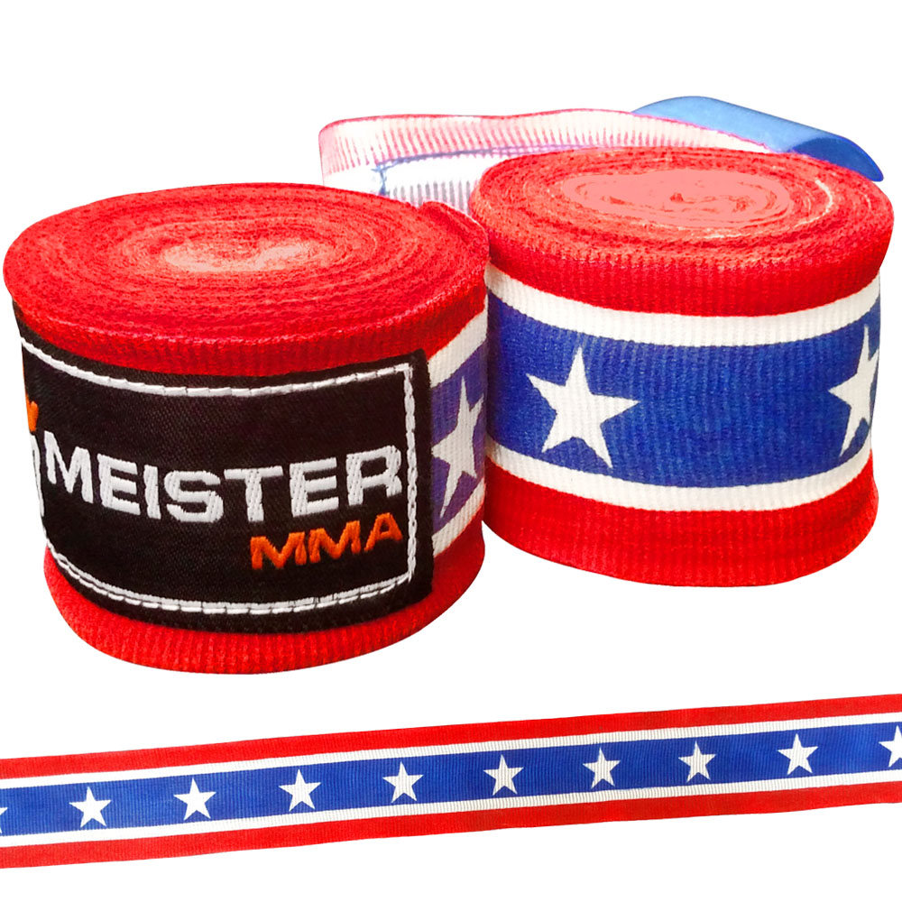 "Meister 180"" Semi-Elastic MMA Hand Wraps (Pair) - American"