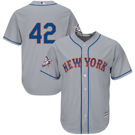 premium selection 89b76 9a805 New York Mets Majestic 2019 Jackie Robinson Day Official Cool Base Jersey -  Gray