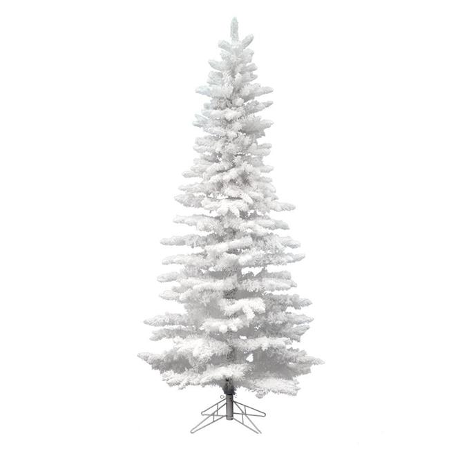 Vickerman A893590 12 ft. x 65 in. Flocked White Slim ...