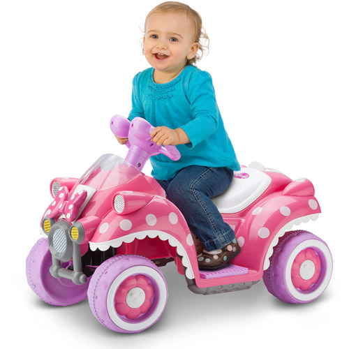Disney Minnie Mouse Hot Rod Quad 6V Battery-Powered Ride-On by Kid Trax
