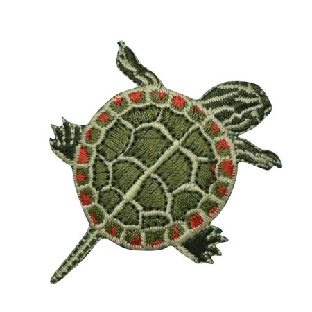 North American Box Turtles - North American Painted Turtle Iron on Applique/Embroidered Patch