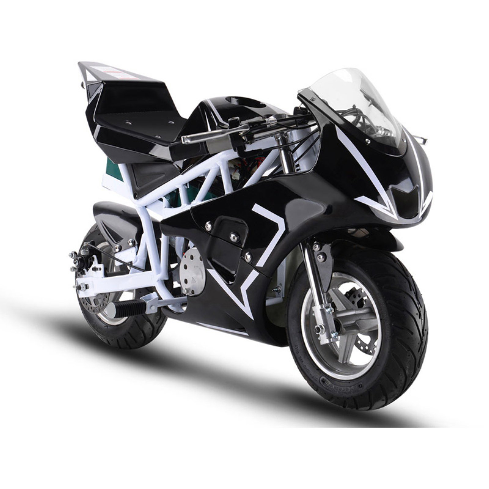 MotoTec 36v 500w Electric Pocket Bike GP White