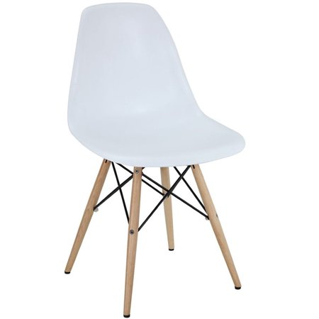 Hawthorne Collection Dining Side Chair in White - image 3 of 3