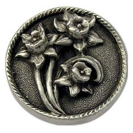 Daffodils lft knob Set of 10 Antique Bronze