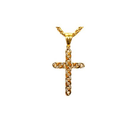 Jewels Fashion Stainless steel Rhodium Plated Celtic knot cross Pendent With Cubic Zirconia Stones And 22