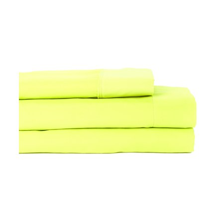 Premier Colorful Collection Soft Super Bright Microfiber Sheets 4 Piece Set 8 Hot Colors Full Lime Green