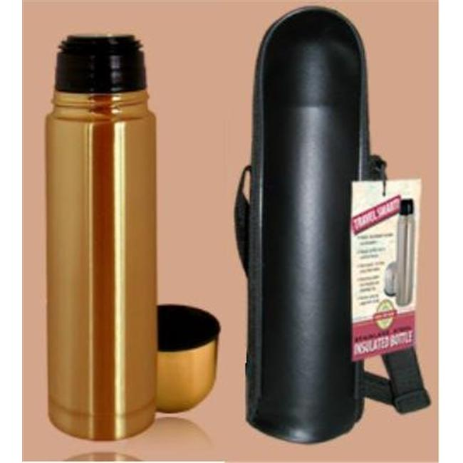 Good Life Gear SF1005 BRZ 16 oz. Thermal Hot-Cold Bottle With Black Carrying Case - Bronze