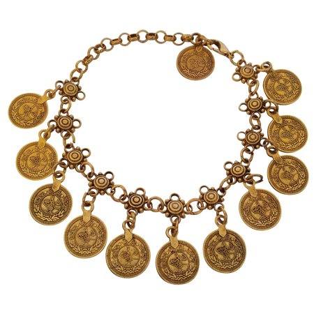 Jons Imports - Hip Shakers Womens Belly Dance Dangle Gold Coins Vintage  Ankle Chain Tassel Bohemian Jewelry - Walmart.com 59a7de97e