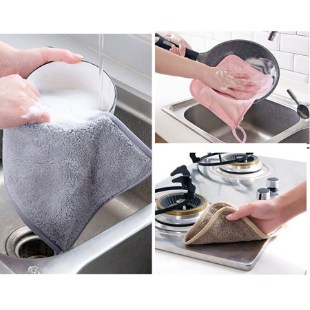 Kitchen Dish Cloth Cleaning Cloth Hanging Wash Cloths Household Washing Towels Special Absorbent Kitchen Cleaning Tool - image 2 of 7