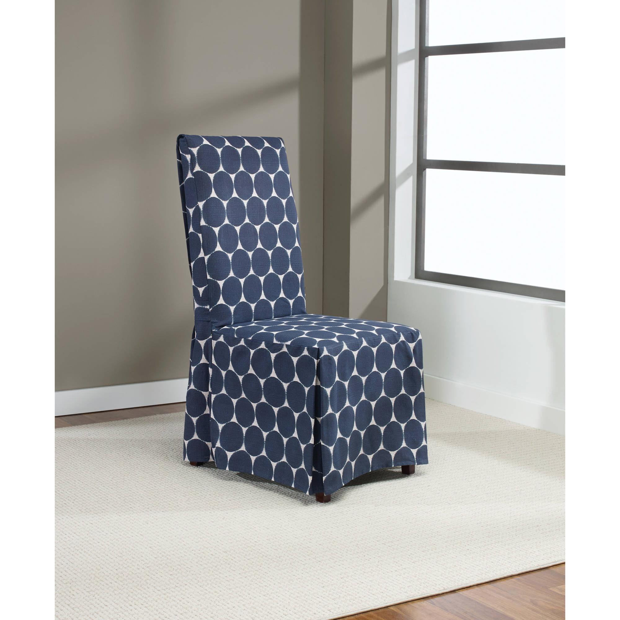 Sure fit ikat dot dining room chair cover indigo walmart com