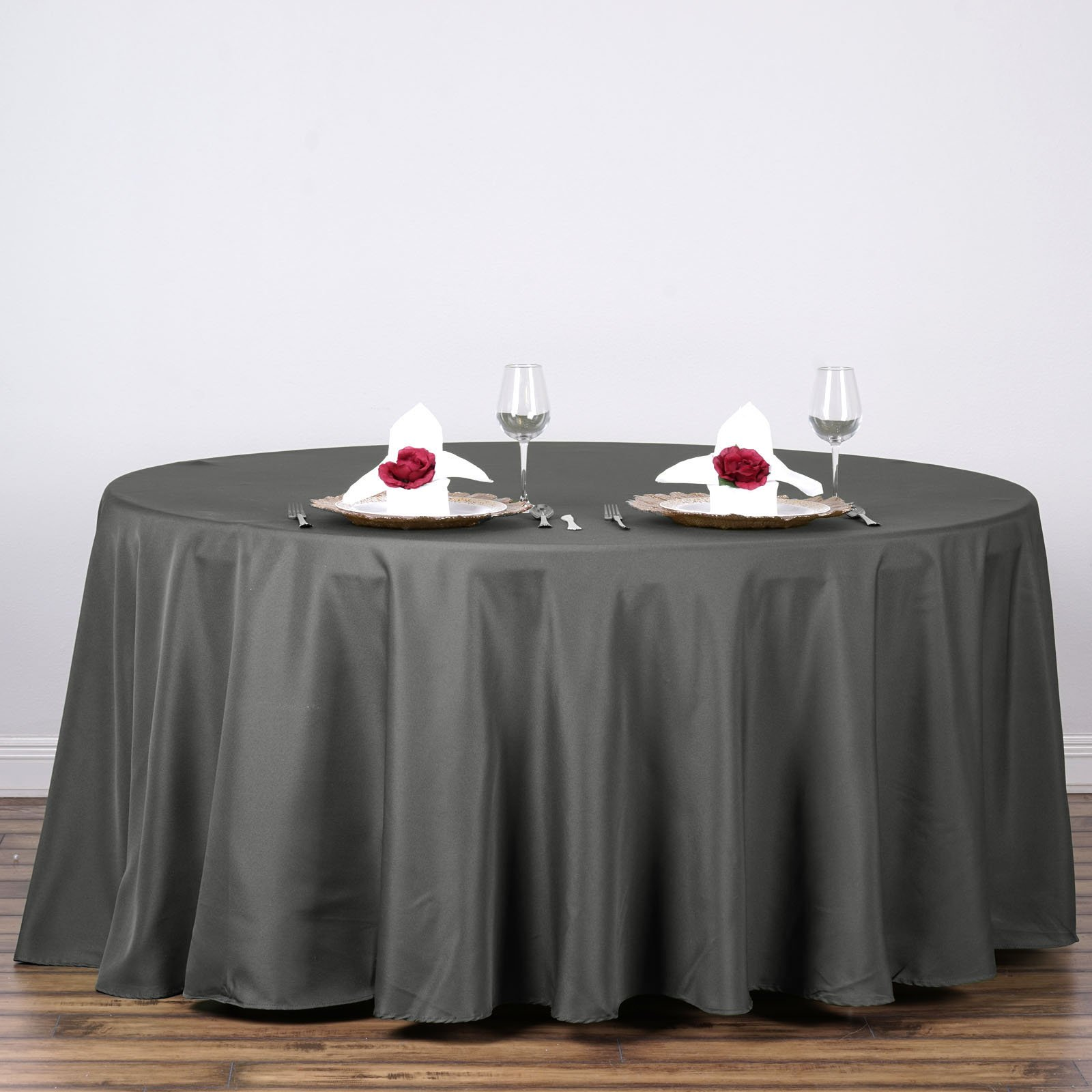 """BalsaCircle 120"""" Round Polyester Tablecloth for Party Wedding Reception Catering... by BalsaCircle"""