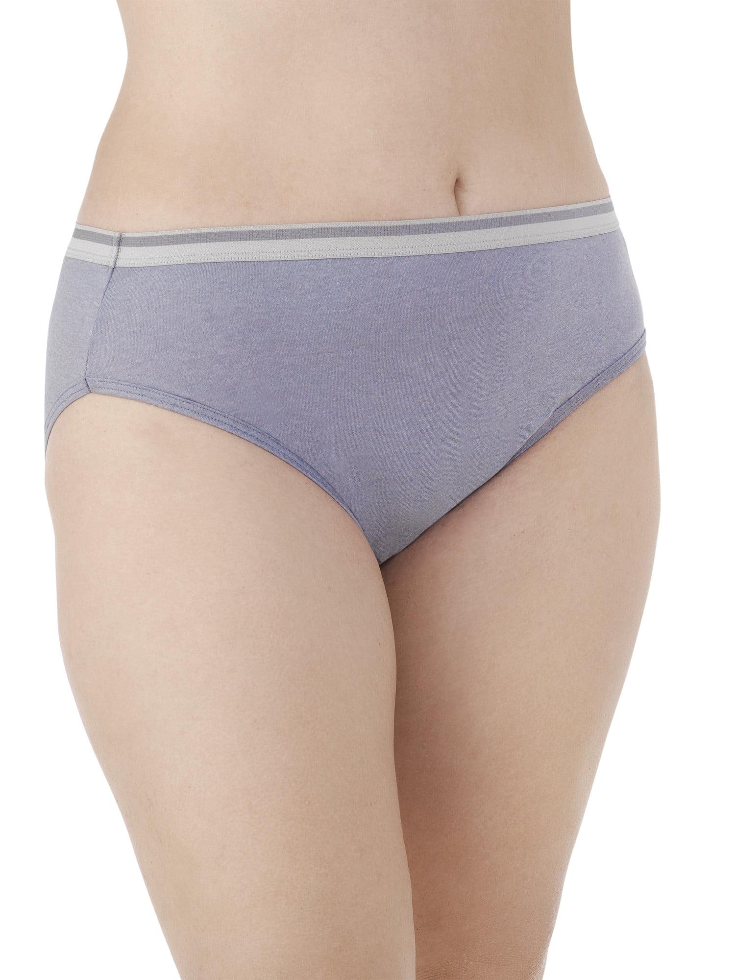 4d1cec07274 Fit for Me by Fruit of the Loom Women's Plus Heather Cotton Hi-Cut Panties