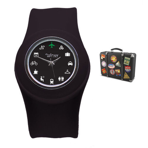 Winky Designs Iconic Slap Watch (Black)
