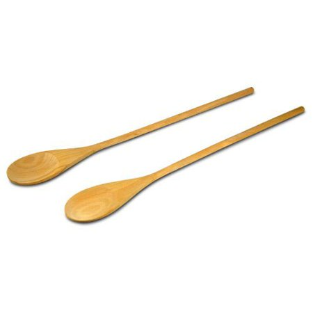 18-Inch Long Handle Wooden Cooking Mixing Spoon, Birch Wood Set of 2, Set of 2 of high-quality birch wooden kitchen spoons. By PAVILIA