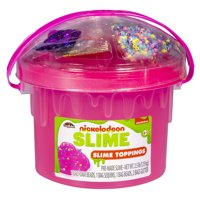 Nickelodeon Slime 3lb Bucket with Toppings: Pink, Blue or Clear (Styles May Vary)