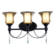 World Imports Oil Rubbed Bronze Ethelyn 3-light Vanity Fixture
