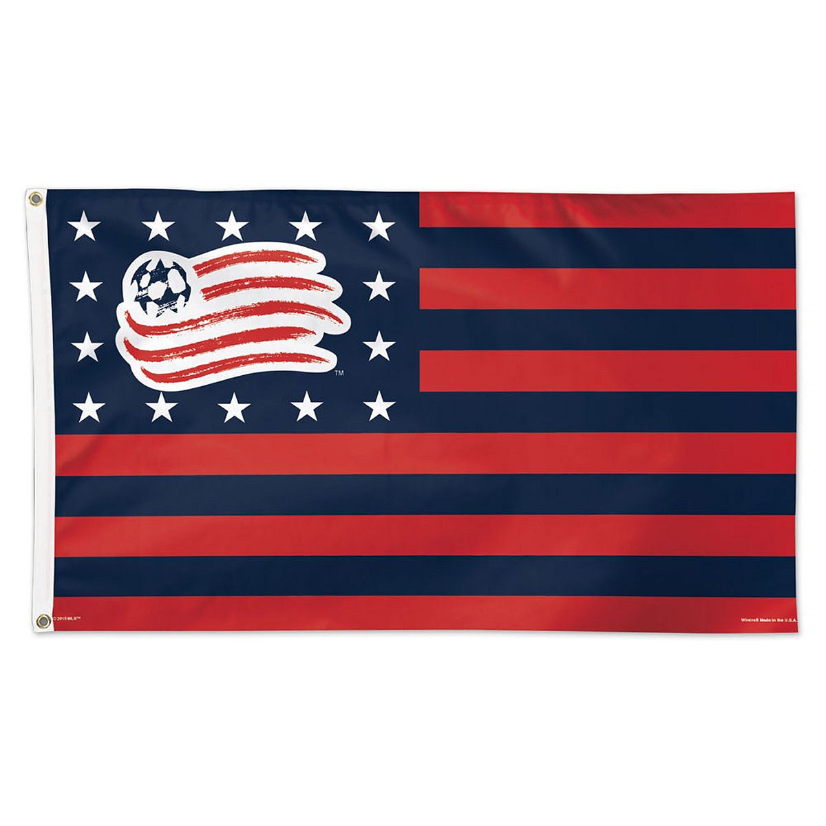 New England Revolution Stars and Stripes 3' x 5' Flag