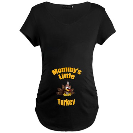 Fancyleo Thanksgiving New Pregnant T-Shirt Maternity Letter Printed Short Sleeve Tee Mommyand#39;S Little Turkey Causal Pregnancy T Shirts Tops (Maternity Short Sleeve T Shirts)
