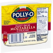 Polly-O Part Skim Mozzarella Cheese, 16 oz Vacuum Packed