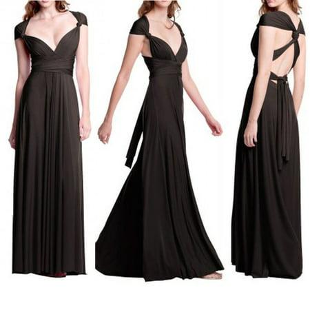 e39895993902 Wellspares - Women Sleeveless Halter Bandage Ball Gown Multiway Convertible  Long Dresses - Walmart.com