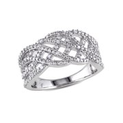 1/5 Carat T.W. Diamond Sterling Silver Crossover Band