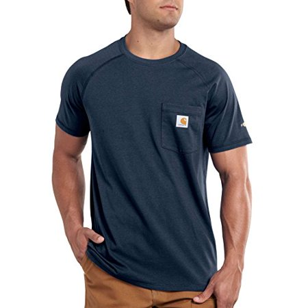 Carhartt Men's Big & Tall Force Cotton Short Sleeve T-Shirt Relaxed Fit,Navy,XXXX-Large (Carhartt Shorts Men)