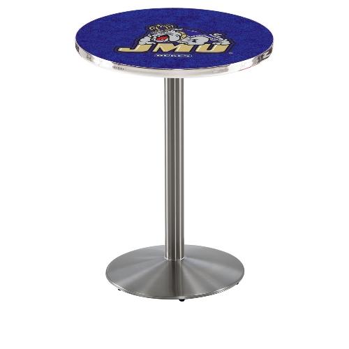NCAA Pub Table by Holland Bar Stool, Stainless JMU, 42'' L214 by Holland Bar Stool Co