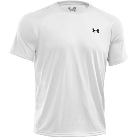 Men's UA TechTM Shortsleeve T-Shirt Tops by Under Armour (White/Black, Large) (Iron Man Armour For Sale)
