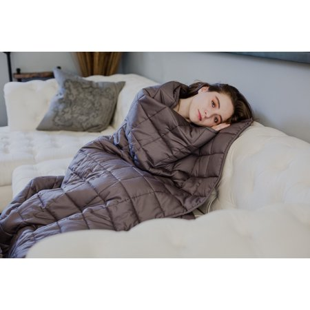 """CMFRT Weighted Blanket, Grey, 60"""" x 80"""", 16 lbs"""