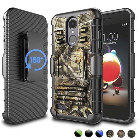 Njjex for LG Phoenix 4 Aristo 2 3 3+ Plus Rebel 3 4 LTE Tribute Empire Dynasty Zone 4 Fortune 2 Risio 3 V3 K8 2018 Cases Holster, [Heavy Duty] ShockProof [Swivel Belt Clip] [Kickstand] Rugged Case Razor V3 Cell Phone Cover