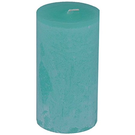 - Timber Collection Pillar Candle - Turquoise (2